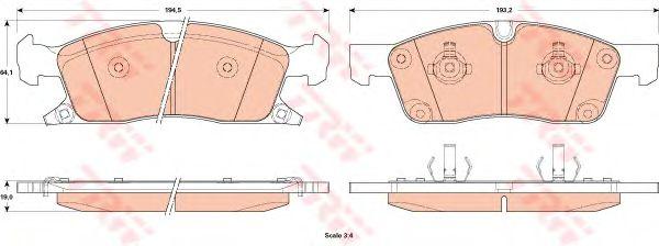 Тормозные колодки TRW GDB4603