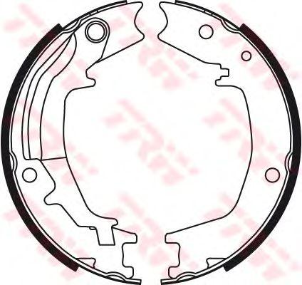 Тормозные колодки ручника TRW GS8489