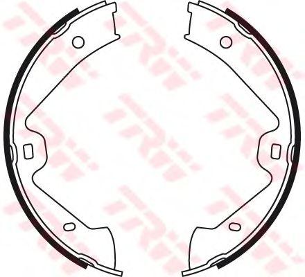 Тормозные колодки ручника TRW GS8776
