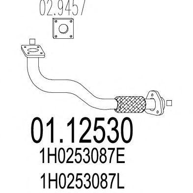 Труба выхлопного газа MTS 01.12530