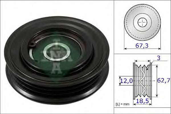 Натяжной ролик поликлинового ремня INA 531 0861 10