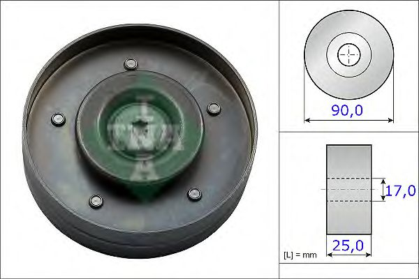 Направляющий / паразитный ролик  поликлинового ремня INA 532 0694 10