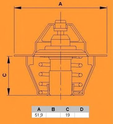 Термостат CALORSTAT by Vernet TH5075.88J