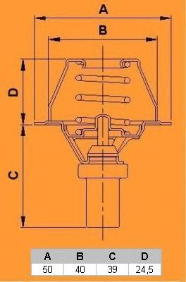 Термостат CALORSTAT by Vernet TH5284.86J