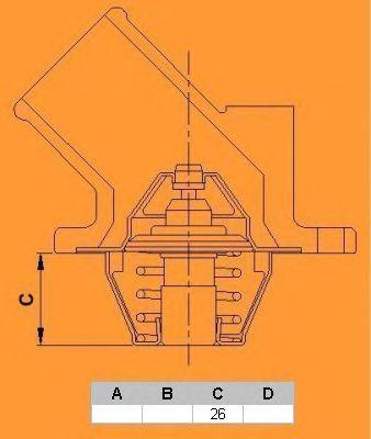 Термостат CALORSTAT by Vernet TH5493.89J