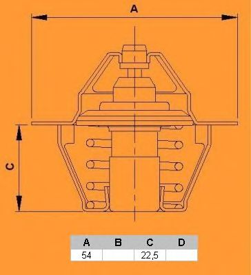 Термостат CALORSTAT by Vernet TH5504.82J