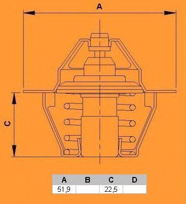 Термостат CALORSTAT by Vernet TH5977.88J
