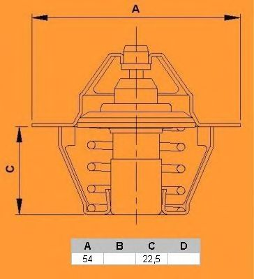 Термостат CALORSTAT by Vernet TH5980.88J