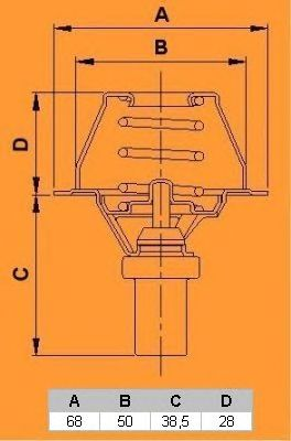 Термостат CALORSTAT by Vernet TH6270.80J