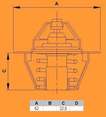 Термостат CALORSTAT by Vernet TH6292.88J
