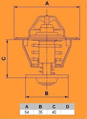 Термостат CALORSTAT by Vernet TH6578.87J