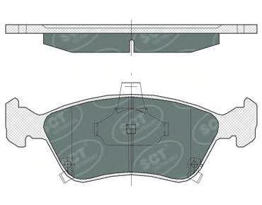 Тормозные колодки SCT Germany SP 362