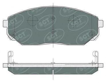 Тормозные колодки SCT Germany SP 371