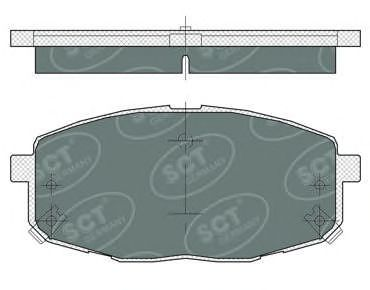 Тормозные колодки SCT Germany SP 374