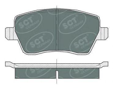 Тормозные колодки SCT Germany SP 383