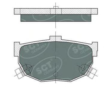 Тормозные колодки SCT Germany SP 386