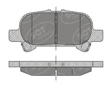 Тормозные колодки SCT Germany SP 401