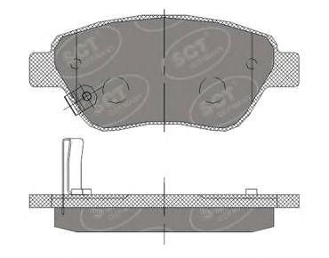 Тормозные колодки SCT Germany SP 406
