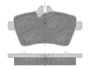 Тормозные колодки SCT Germany SP 409