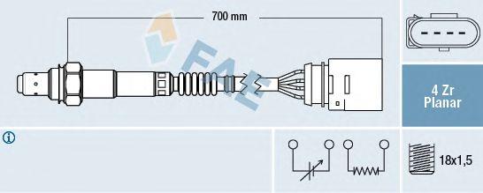 Лямбда-зонд FAE 77141