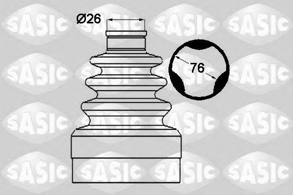 Комплект пыльника ШРУСа SASIC 1904019