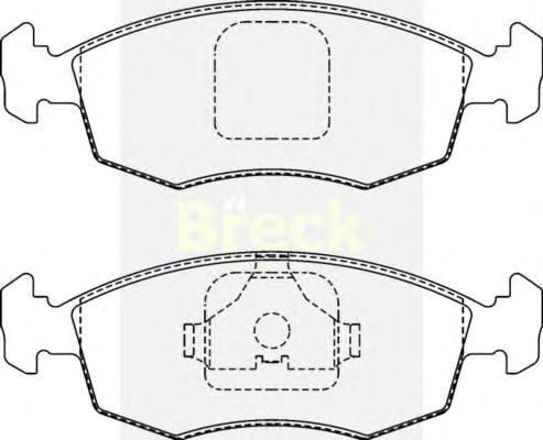 Тормозные колодки BRECK 20908 00 702 00
