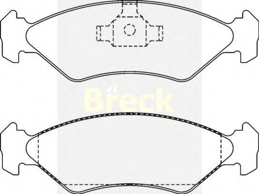 Тормозные колодки BRECK 21202 00 702 00
