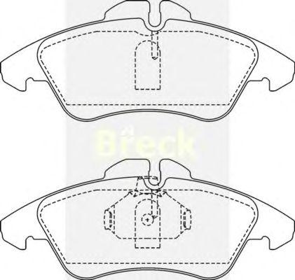 Тормозные колодки BRECK 21576 00 703 10