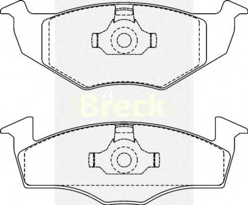 Тормозные колодки BRECK 21866 20 702 00