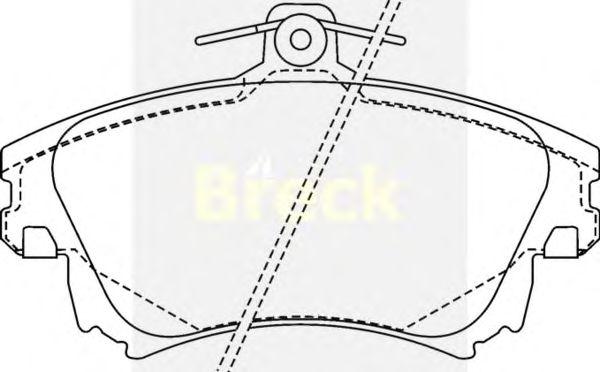 Тормозные колодки BRECK 21983 00 701 10