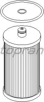 Топливный фильтр TOPRAN 111 648