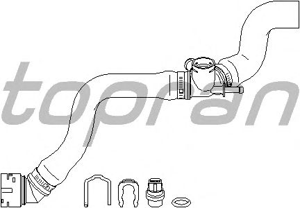 Шланг радиатора TOPRAN 113 232