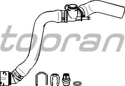 Шланг радиатора TOPRAN 113 231