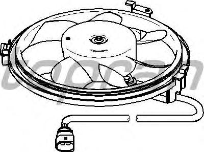 Вентилятор охлаждения TOPRAN 111 439