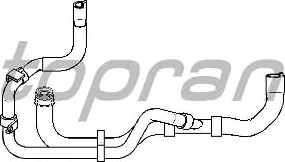 Шланг радиатора TOPRAN 721 834