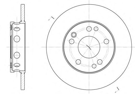 Тормозной диск REMSA 6221.00