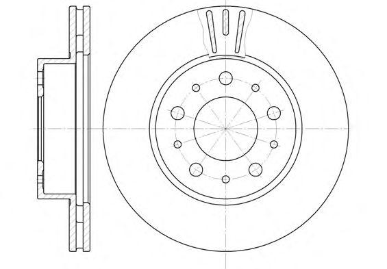 Тормозной диск REMSA 6231.10