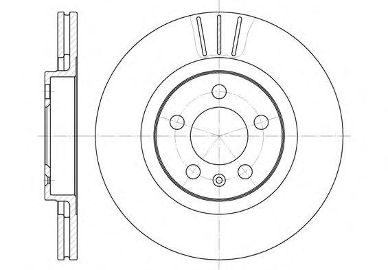 Тормозной диск REMSA 6546.10