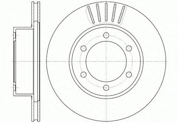 Тормозной диск REMSA 6562.10