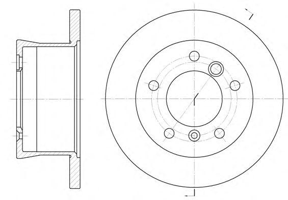 Тормозной диск REMSA 6566.00