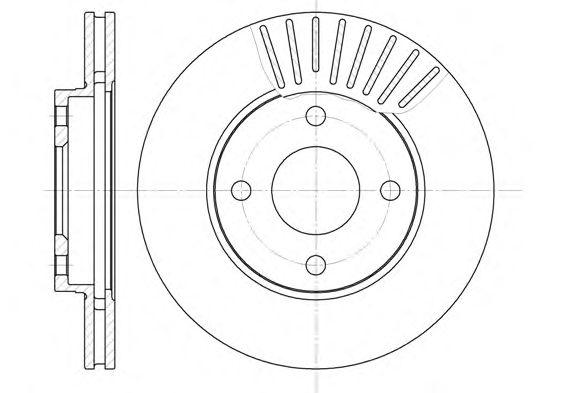 Тормозной диск REMSA 6575.10