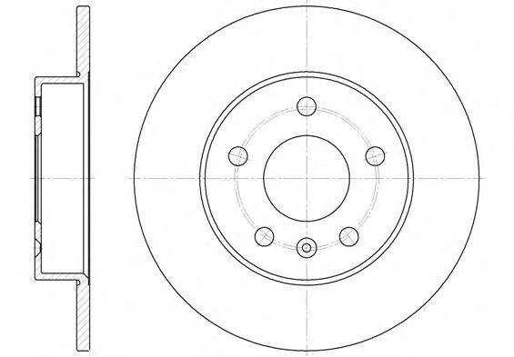 Тормозной диск REMSA 6578.00