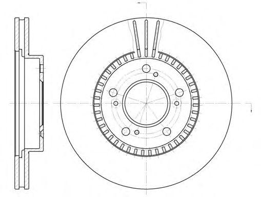 Тормозной диск REMSA 6586.10