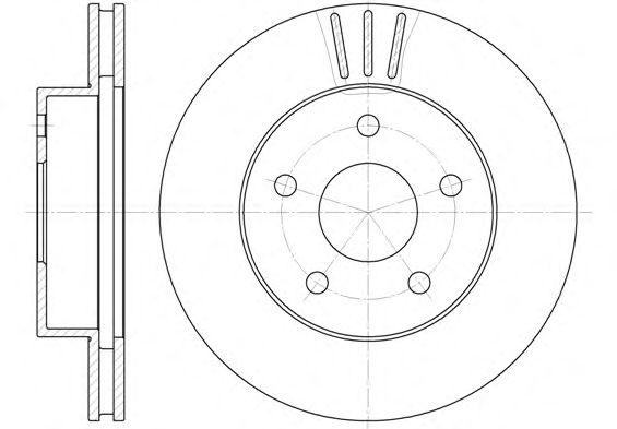Тормозной диск REMSA 6626.10