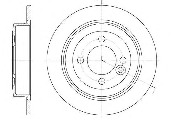 Тормозной диск REMSA 6629.00
