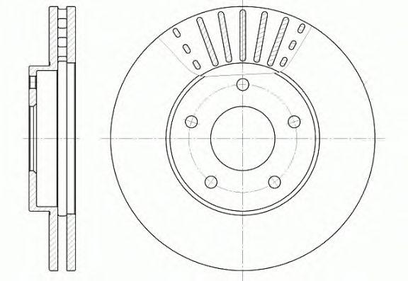 Тормозной диск REMSA 6681.10