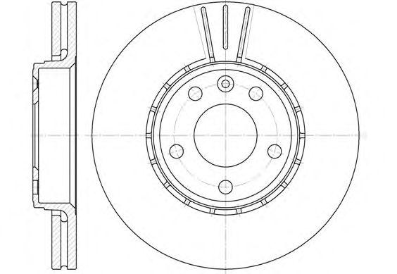 Тормозной диск REMSA 6682.10