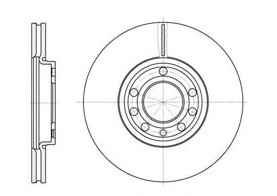 Тормозной диск REMSA 6689.10