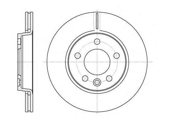 Тормозной диск REMSA 6707.10