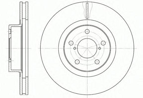 Тормозной диск REMSA 6715.10